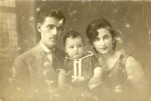 2 Paris 1925 Famille Hadges  avec Alex