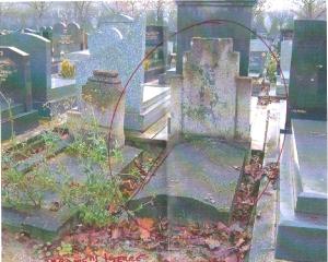 Tombe Rachel à Pantin décédée en 1943, rue Basfroi Paris 11ème
