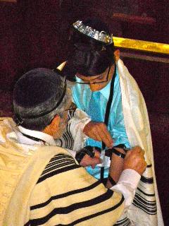 Photo d'Helias à la Synagogue Don Isaac Abravanel