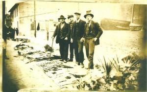 1925 Marché de Villefranche en Beaujolais, Inconnu, Isaac Zarco, Jacques Roumi et Albert Yanni