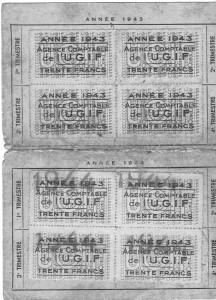 5 Ticket UGIF 1943