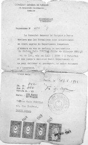 6 Consulat Turquie juin 1943 - Demande de nationalité Calo Portias