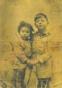 Marcel et Buéna Béhar  à l'école maternelle rue Popincourt - 1948