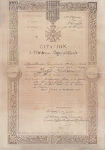 3 Moïse Jaffet Citation Ordre Corps Armée Lyon 22 janvier 1916