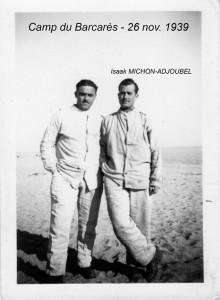 3  Mon Père Isaak Michon-Adjoubel Camp du barcarès nov.1939