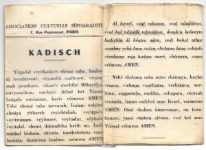 Kadisch du père de Marcel 7 rue Popincourt - alcabes
