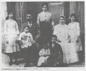 1912 Bagdad famille Juive